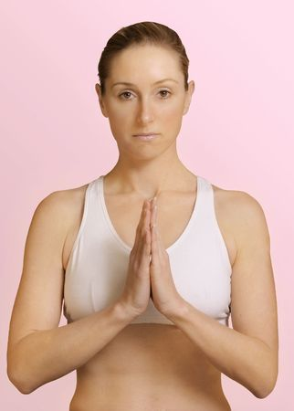 anjali: Anjali Mudra (Salutation Seal or Seal)This palms-together gesture completes an energetic circuit between the hands and the and harmonizes the two hemispheres of the brainSeated postion. Hands must be in front of the .Reduces stress and a