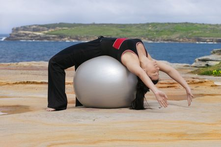 bend over: Pilates - Back bend over pilates ball