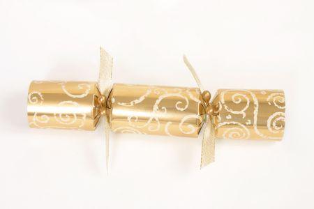 pull toy: L�mina de oro de Navidad cracker