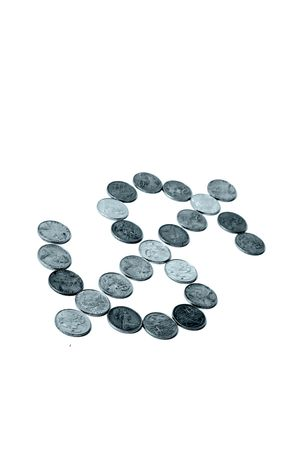 bankroll: Coins on a plain backgriound