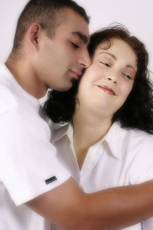 Tenderness - Couple in loving embrace -  soft diffusion added Stock Photo - 263553