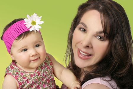 Mother with her baby daughter. Stock Photo