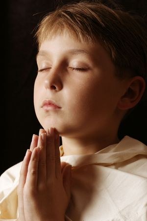 Our Father..... Prayer time Stock Photo