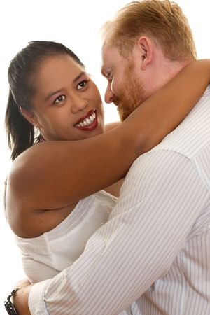 A loving multicultural couple Stock Photo - 328097
