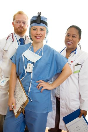 Smiling Friendly Medical Staff. Stock Photo
