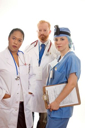 Three medical professionals photo