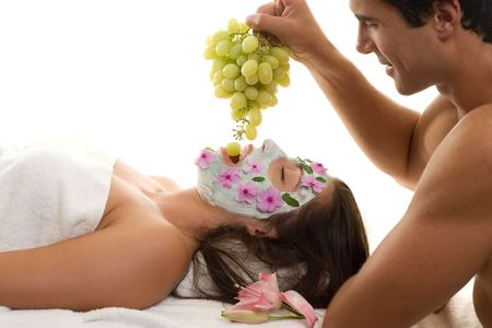 ultimate: The ultimate experience!  A woman is pampered at a day spa