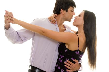 Two to Tango... Man and woman tango together Stock Photo - 444546