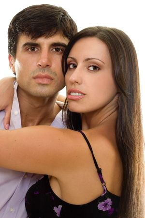 Young adult couple in a loving embrace Stock Photo - 444547