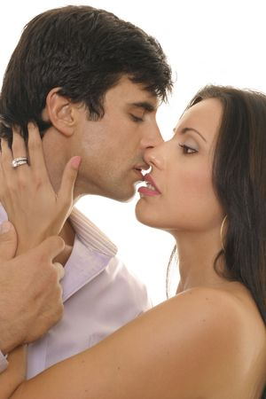 magnetism: Attraction -- example, opposites attract, chemistry, magnetism, romance, passion, courtship, affair, etc. Stock Photo