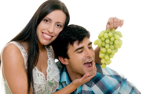 Young Couple having some fun. photo