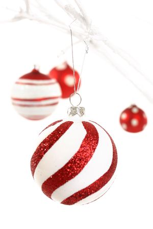 Focus on first foreground hanging bauble - please note, shallow dof Stock Photo - 641230