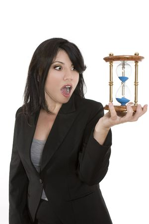 out time: Running out of time.... Not enough time in the day to do everything? Stock Photo