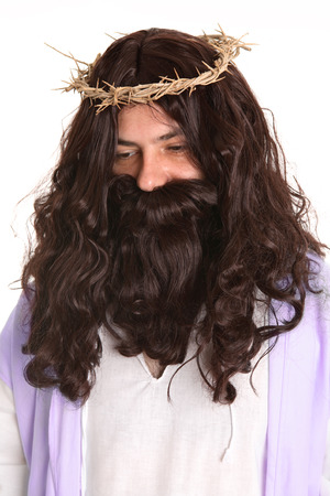 atone: Christ wore the symbol of sin and punishment as He atoned for our sins. Stock Photo