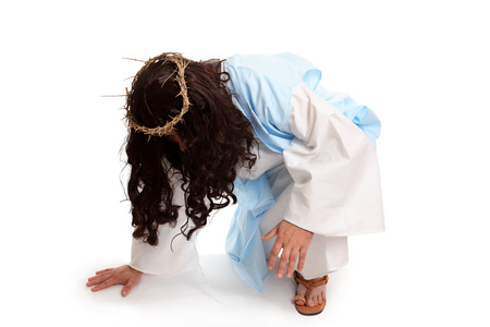 anointed: Jesus before the crucifixion.