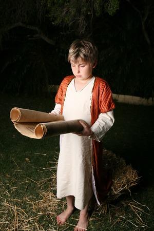 ルーク: 若い少年や若いイエス聖書を読む.彼が聞いたすべては彼の理解と答えに驚いた。-ルーク 2:46-47