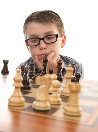 Player considering the next best move. Stock Photo - 1964176