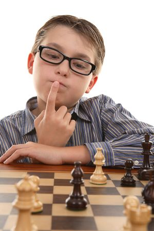 An important element of a good chess player is  how well he evaluates positions and ability to think ahead. Stock Photo - 1978631