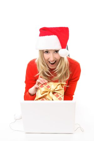 Save time and m money.  Happy girl because she bought her gifts online, fast convenient, secure. photo