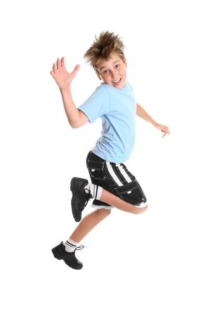 skipping: Hopping or skipping child showing happiness.
