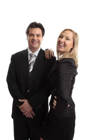 salespeople: Successful business team or business partners or colleagues