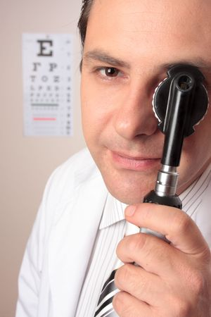 recently: Have you had your eyesight checked recently Stock Photo