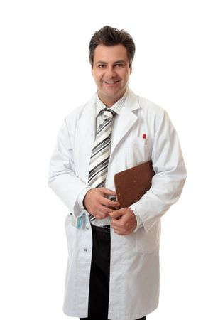 Professional surgeon or doctor holding medical record. Stock Photo - 3133621