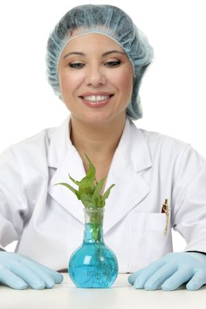genetically: A scientist, geneticist  or researcher in the field of  botany, agriculture or horticulture.  Focus to plant.