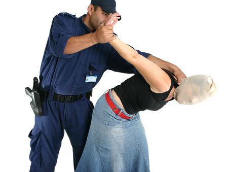arrested criminal: Apprehending a masked thief or other criminal
