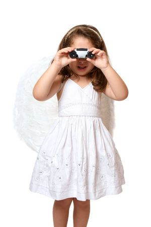 Little angel watching over you or searching photo