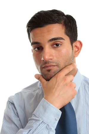 Thinking businessman or other professional occupation.