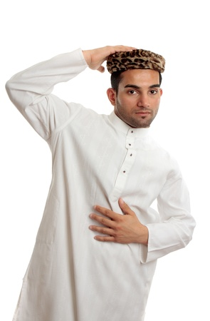 thoub: An ethnic man wearing traditional clothes Stock Photo