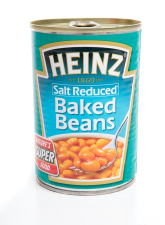 A tin of baked beans by Heinz. Stock Photo - 8728260