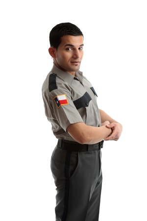 correctional officer: A male worker in uniform
