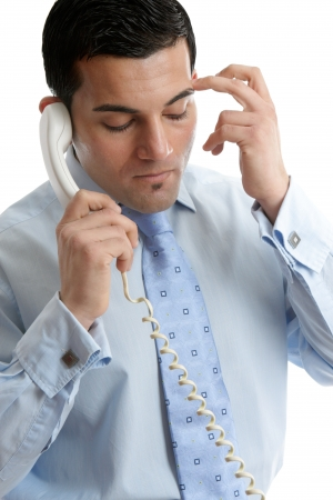 Troubled or depressed man making a phone call. Stock Photo - 14171899