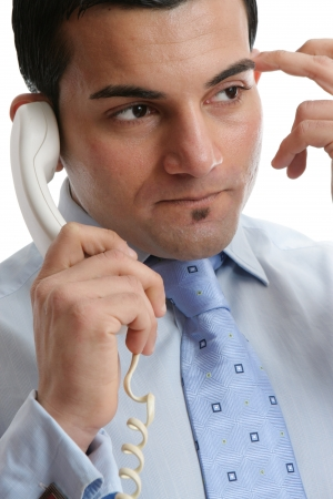 Businessman thinking, wondering, inquiring,  Stock Photo - 14171900