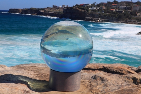 titled: BONDI BEACH, AUSTRALIA - OCTOBER 30, 2013  Sculpture By The Sea, Bondi 2013  Annual event that showcases artists from around the world  Sculpture titled  Editorial