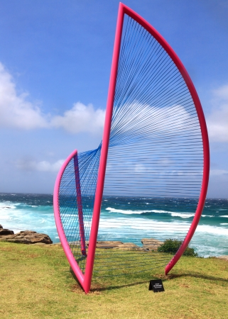 titled: BONDI BEACH, AUSTRALIA - OCTOBER 29, 2013  Sculpture By The Sea, Bondi  Annual event showcases artists around the world  Sculpture titled