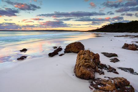 The sunrise at Hyams Beach was beautiful   Jervis Bay NSW Australia