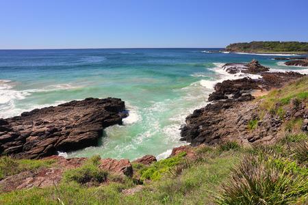 kiama: Kiama Downs, South Coast NSW Australia   Kiama was formed from two strong volcanic flows    This area was also hit by a mega tsunami around 1487
