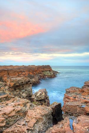 craggy: North Avoca craggy rocky escarpment  NSW Australia Stock Photo