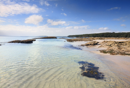 unspoilt: Scottish Rocks is a rocky outcrop in the beautiful unspoilt Jervis Bay.  The rocky islands are fully immersed at high tide.