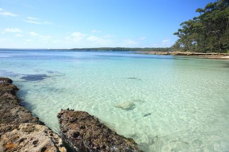 sheltered: The clear sheltered waters at Bristol Point Australia