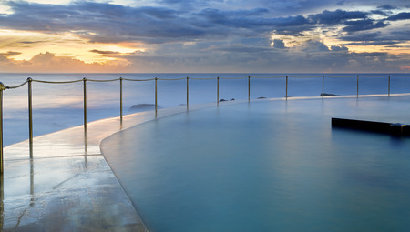 hand rails: Bronte pool, on the south side of Bronte Beach at sunrise