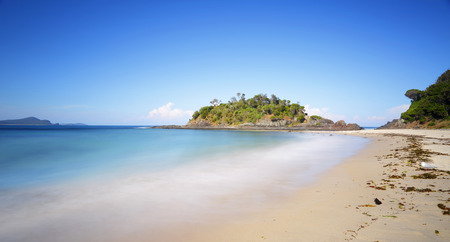 attempts: Number One Beach at Seal Rocks on mid north coast of NSW.   Views to the island known as Seal Rocks Point Locals have resisted attempts to commercialise the area and so retains a natural charm. The beach receives protections from the southern rocks but ca