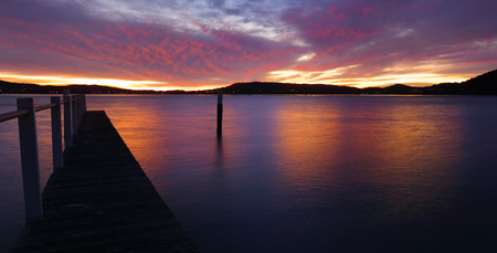 australia landscape: Sunrise from the jetty at Koolewong, Central Coast Australia