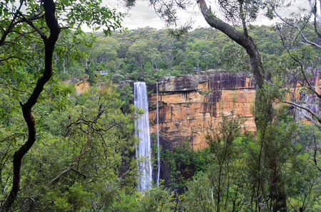 downunder: Australian bushland views of Fitzory Falls, in the Southern Highlands of NSW, Australia Stock Photo
