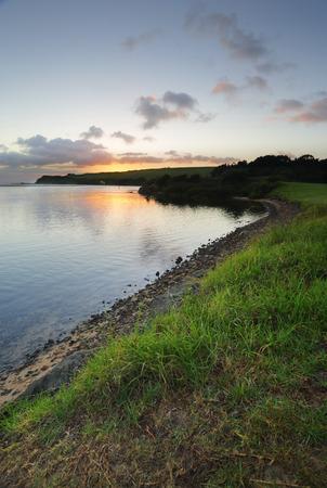 south coast: Sunrise from the Minamurra River, south coast NSW Australia