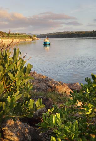 kiama: Early morning light on the Minamurra River, NSW Australia