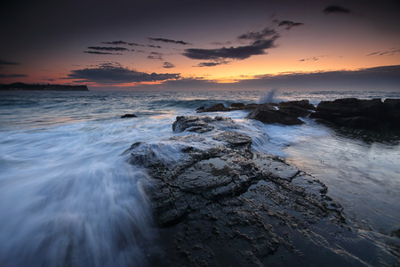 overflows: Low tide overflows at dawn on the southern rockshelf at Warriewood